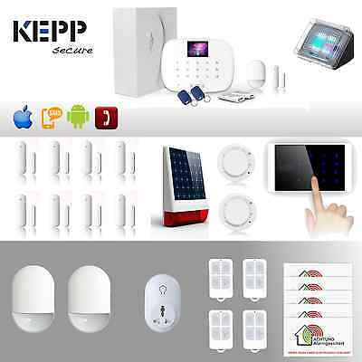 KEPPSECURE Funk GSM Alarmanlage mit Touchpad, steuerbar per APP,SMS und Telefon