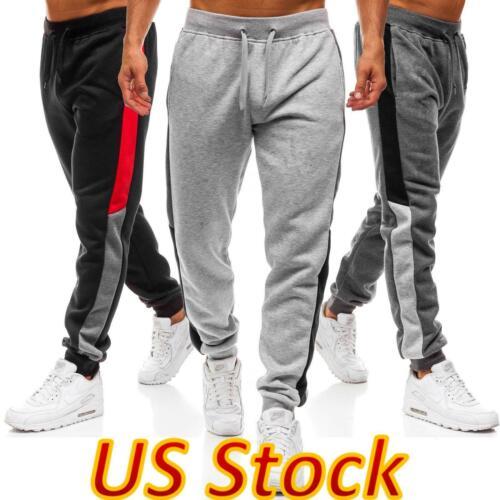 us men casual sport pants sweatpant loose