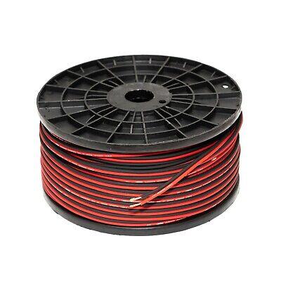 25M 16 GAUGE RED/BLACK OFC SPEAKER WIRE 16 AWG 1.5mm2 OVERSIZED FLEXIBLE...