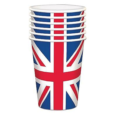 10 Union Jack Paper Cups Royal Wedding Street Party Supplies Tableware GB BBQ