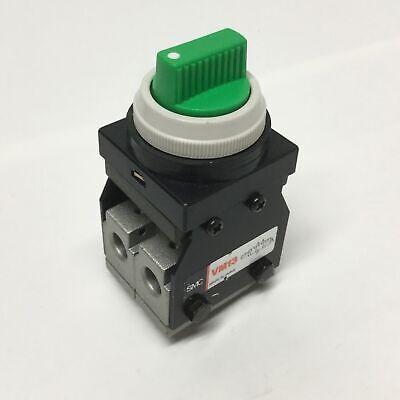 Smc Vm13 Pneumatic Mechanical Air Valve 3-position Green Selector Switch M5