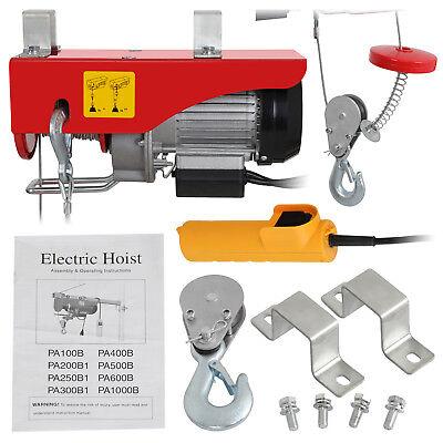 440lbs Electric Winch Lift Hoist 110v50hz Garage Shop Crane Overhead Motor