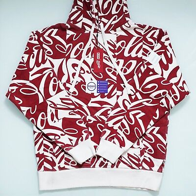 KITH x Coca Cola Cubed Hoodie Coke Red - Size S M L XL XXL - SHIPS NOW