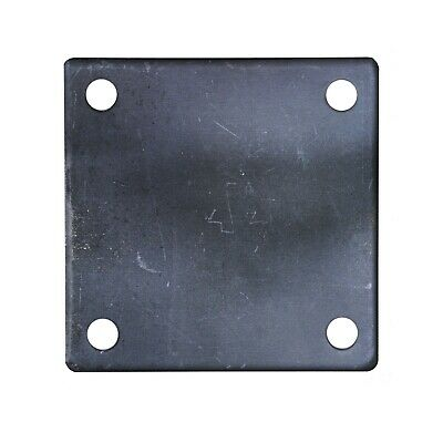 Flat Square Steel Metal Base Plate 6 X 6 X 14 Thickness 38 Hole Qty 4