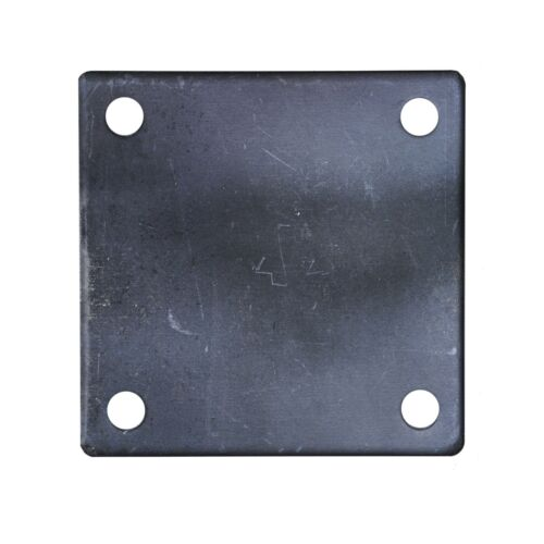 """FLAT SQUARE STEEL METAL BASE PLATE 6"""" x 6"""" x 1/4"""" THICKNESS 3/8"""" HOLE 