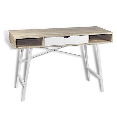 Schreibtisch Weiß Sonoma Eiche Computertisch Arbeitstisch Sekretär Bürotisch ()