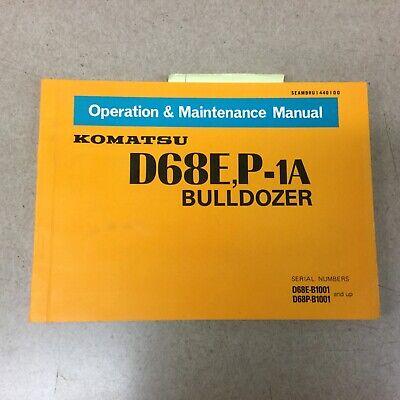 Komatsu D68ep-1a Operation Maintenance Manual Bulldozer Dozer Operator Guide
