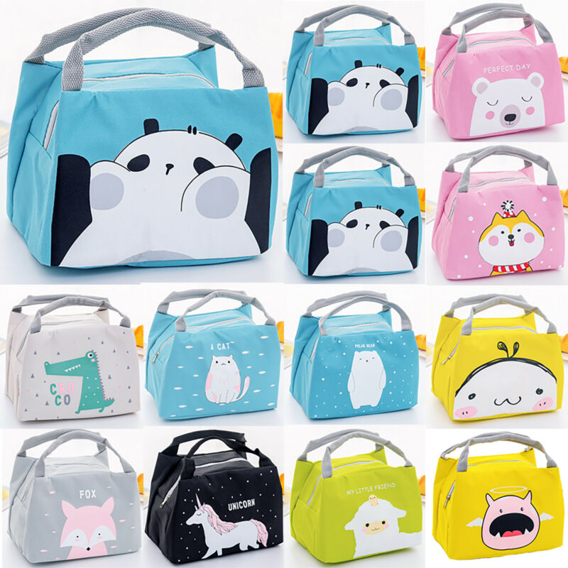 Unicorn Women Girls Portable Insulated Lunch Bag Box Picnic