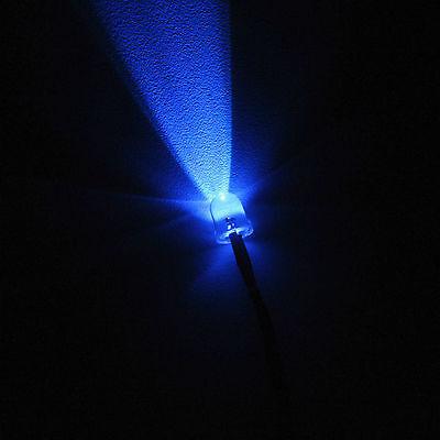 5mm Led Blue Light 55cm Pre-wired Light Emitting Diode 9v-12v 20 Pack
