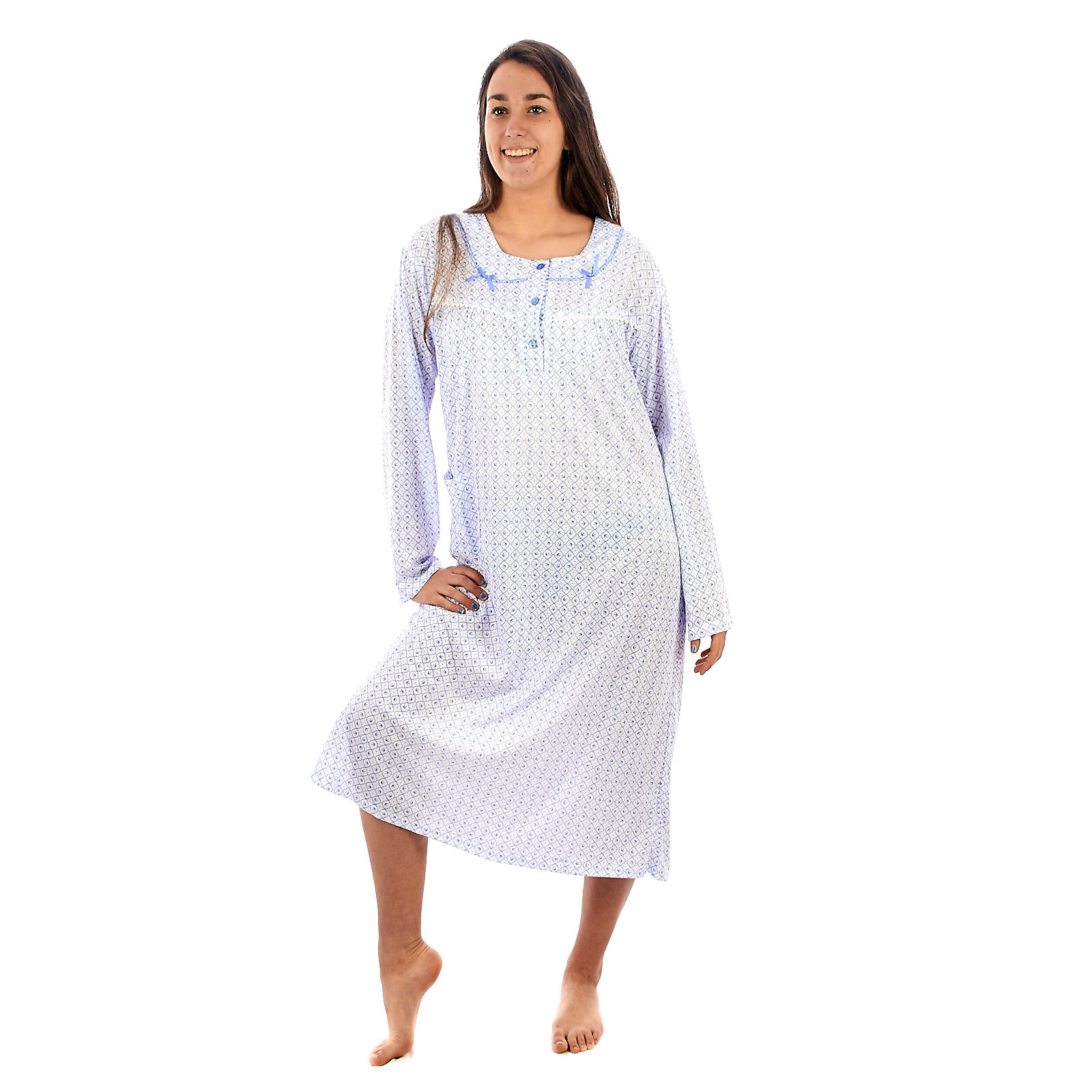 Camicia da notte donna ragazza estate in cotone  manica corta    DECAM026