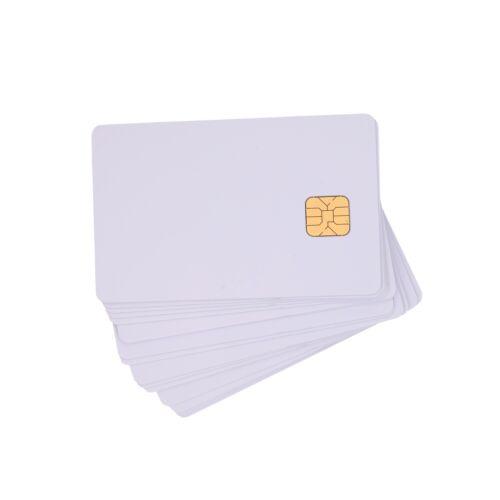 100PCS ISO7816 SLE 4428 Contact IC Card White PVC Blank Card inkjet printable