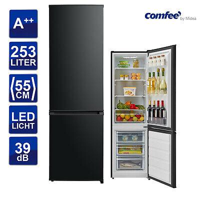Kühlschrank schwarz EEK: A++  comfee KGK-RH 180 A++ BL Kühl-/Gefrierkombination Kühlschrank-schrank