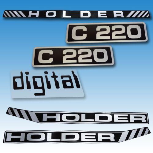 Aufkleber-Satz Aufklebersatz Aufkleber Holder C 220 Digital Traktor Schlepper  Foto 1