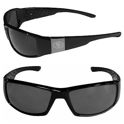 NFL San Francisco 49ers Chrome Black Sunglasses - 49ers Sunglasses