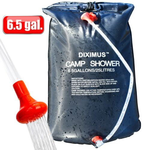 Camping Shower - Outdoor Shower – Solar Shower Bag 6.5 Gallons - 25L - Portable