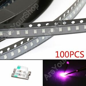 100Pcs-0805-2012-Purple-Purpura-Light-SMD-SMT-LED-Lamp-Diodes-Emitting-Bright