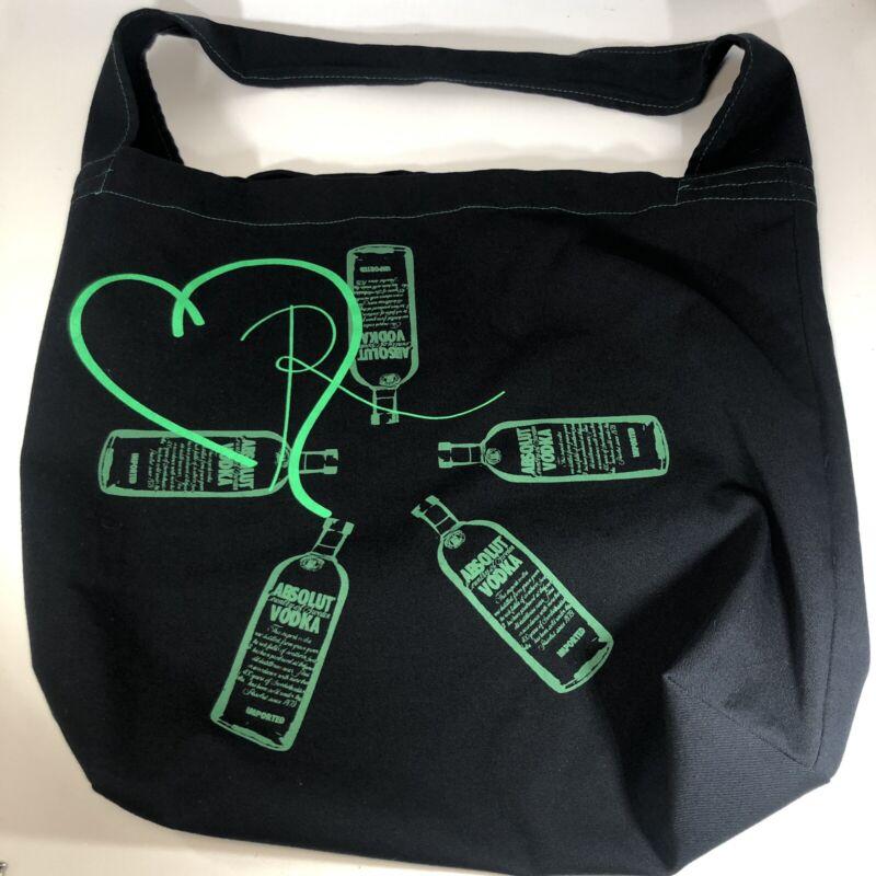 "Earthwise Bag Co. ABSOLUT VODKA Tote Bag 17"" X 14"" 97% Cotton 3% Elastane"