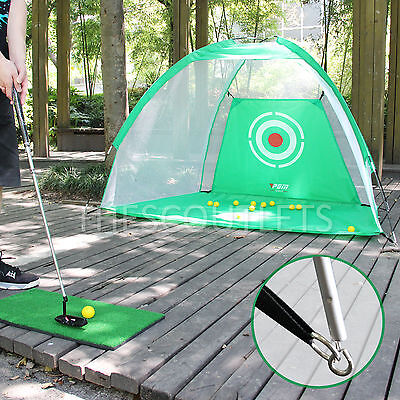 3 in 1 Golf Practice Net Hitting Cage + Driving Mat Training Aid + 12 Free Ball