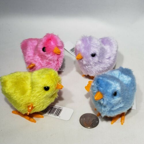 Lot of 4 Creatology Hopper Chicks Wind-Up Walking Multiple Colors Easter