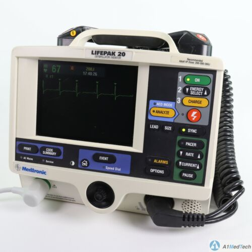 Medtronic Physio-Control LP 20 Biphasic 3 Lead ECG Pacer Analyze Paddles