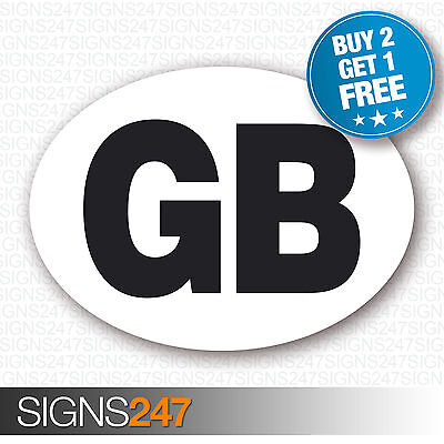 GB CAR STICKERS Oval Euro Car Van Lorry Vinyl Self Adhesive GB stickers