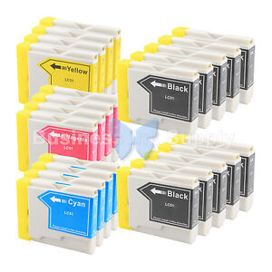 22 PACK LC51 Ink Cartridge for Brother MFC-685CW MFC-465CN MFC-885CW LC-51 LC51