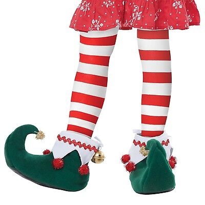 Girl Boy Child Elf Bell Holiday Party Santa's Workshop Christmas Costume Shoes - Boy Elf Costume
