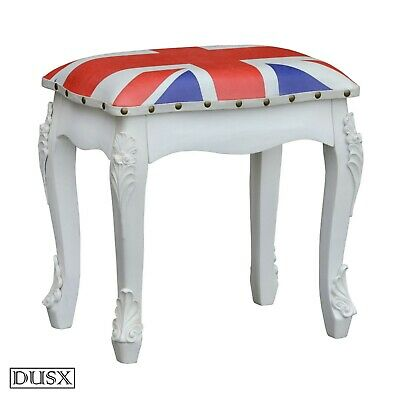 DUSX - Vintage Retro Union Jack Boys Room Padded Stool