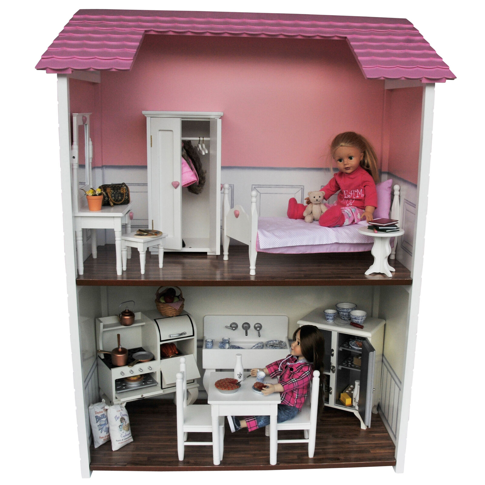 2 Story Doll Town House For 18 Inch American Girl Dolls Furniture