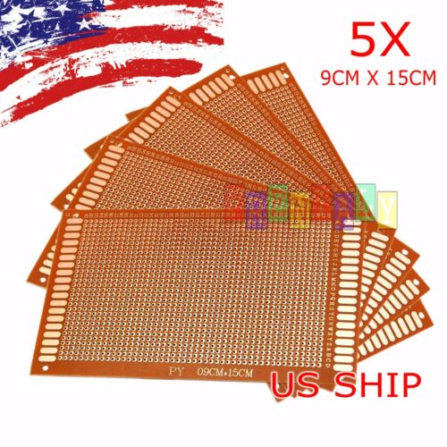 5pcs KIT Prototyping PCB Printed Circuit Board Prototype Breadboard Stripboard