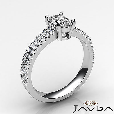 Oval Diamond Engagement Double Prong Set Ring GIA Certified F Color VVS2 1.21Ct 1