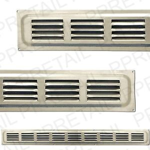 SILVER METAL★LOUVRE AIR VENTS★Small/Large Ventilation Ducting Brick Grille Cover