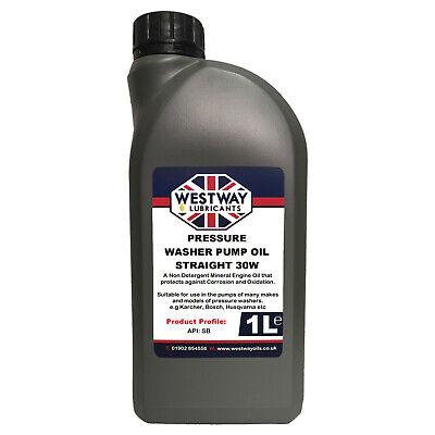 Pressure Washer Pump Oil SAE 30 Non Detergent Suitable for Karcher Husqvarna 1L