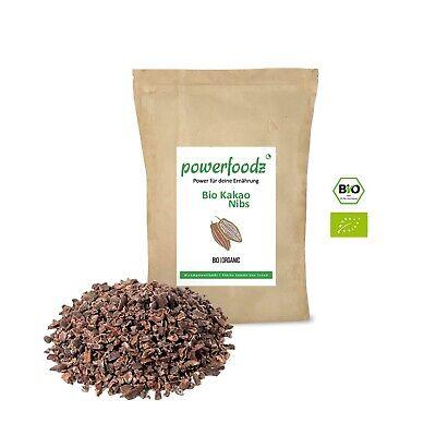 Bestseller Powerfoodz Bio Kakao Nibs 1kg Kakaonibs 1000g DE-ÖKO-006