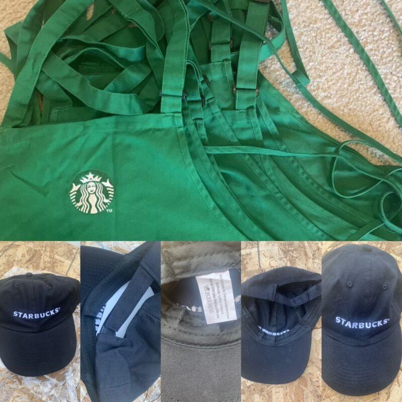 Halloween Costume Starbucks Green Apron And Hat Set - Used Uniform 🎃👻💀 2020