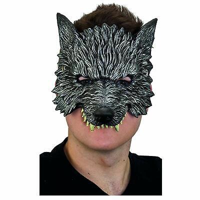 Big Bad Wolf Halloween Costume Grey (Adult Mens Silver Gray Big Bad Were Wolf Animal Pack UNR Halloween Costume)