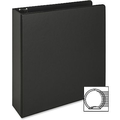 Business Source Round Ring Binder 2 Capacity 11x8-12 Black 09977