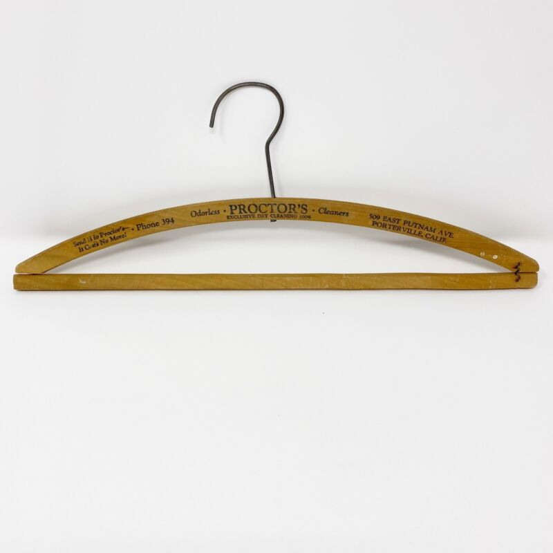 Vintage Wooden Advertising Hangers from Late 1800