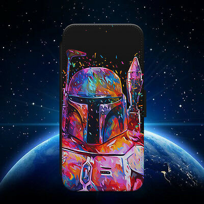 STAR WARS/BOBA FETT/SPACE/GALAXY/FLIP WALLET PHONE CASE COVER FOR IPHONE/SAMSUNG