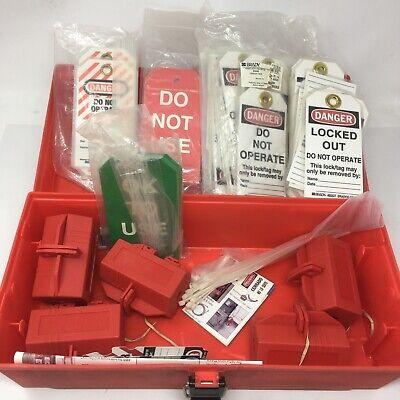 Big Lot Lock Out Kit Facility Safety Brady Lockout Tags 65535