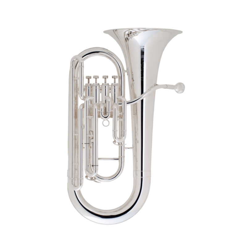 King Legend Soloist 4 Valve Euphonium Silver Plated Outfit