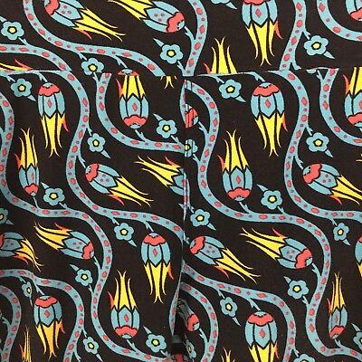 Lularoe OS Leggings Black Turquoise Blue Yellow Flower Dr Seuss Style - Dr Seuss Leggings