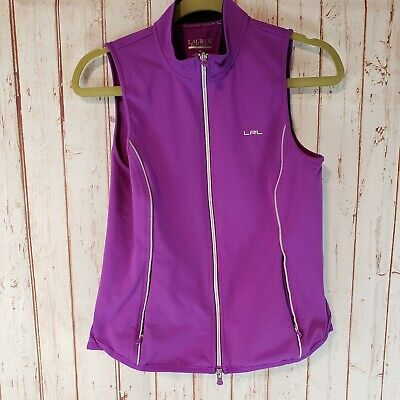 Ralph Lauren Womens Purple Activewear Zip Vest Sustained size Medium