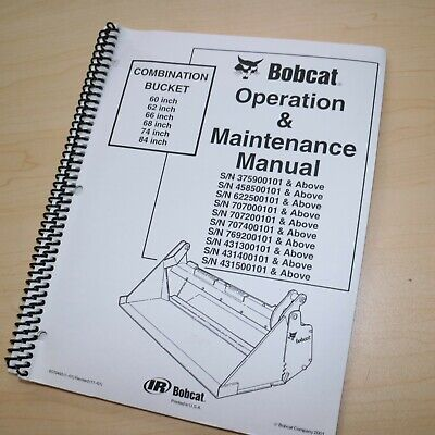 Bobcat Combination Bucket Owner Operator Maintenance Specification Manual Guide