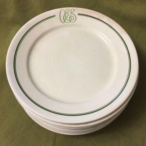 Lot (8) Antique Dinner PLATES Masonic ORDER OF THE EASTERN STAR C.P.Co.