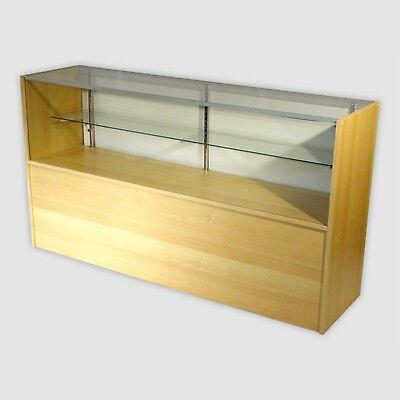 Retail Glass Display Case Half Vision Maple 4 Showcase