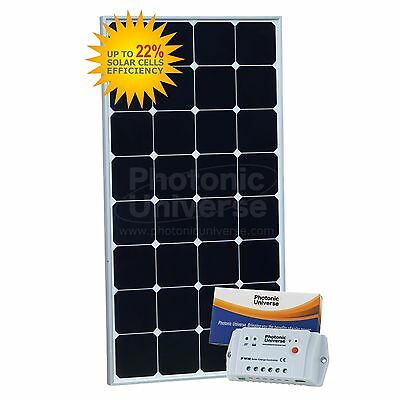 100W 12V Solar Charging Kit for Motorhome Boat Alarm CCTV Security Lighting