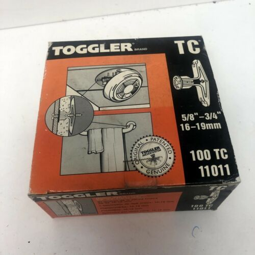 "(100) Toggler TC 11011 High Performance Wall Anchors 5/8""-3/4"" NEW!!! in Box"
