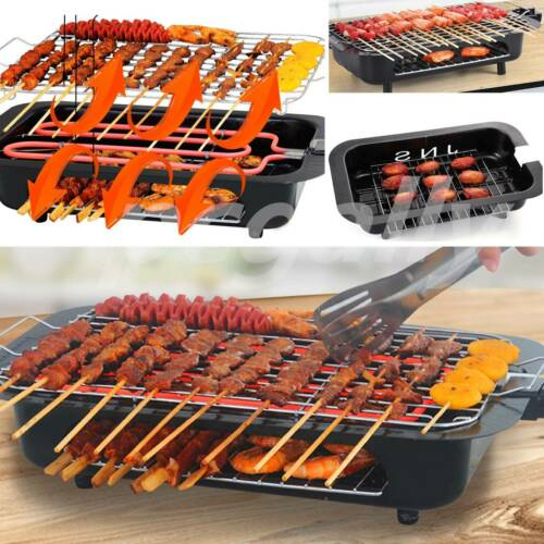 Double-layer Barbecue Electric Grill Griddle BBQ Barbecue No