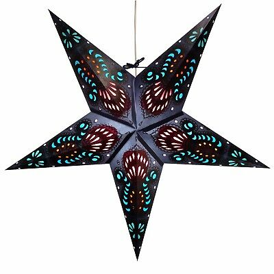 Paper Star Light Lanterns - 12 Foot Power Cord Included (Wide Variety of Styles) - Paper Star Lanterns